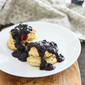 Southern Biscuits and Blueberry Sauce