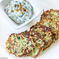 Zucchini Fritters with Spinach Yogurt Dip