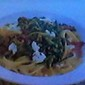 Fettuccine with Spinach & Feta Crumbles in a light Lemon-Butter Sauce