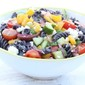 Greek Black Bean Pasta Salad