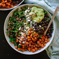 Southwestern Kale Power Salad with Sweet Potato