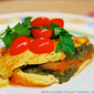 Spinach-Tomato Vegan Omelet from the Jazzy Vegetarian