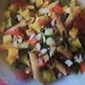Mediterrean Wheat Penne Pasta with Zucchini-Red Bell Pepper-Garlic Lemon Cold Dressing
