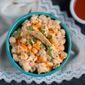 Buffalo Chickpea Salad (vegetarian + vegan option)