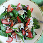 Strawberry-Chicken Salad with Blue Cheese and Honeyed Pecans