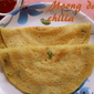 Moong dal chilla recipe – how to make moong dal chilla recipe – snacks | breakfast recipes