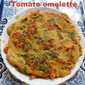 Tomato omelette recipe – how to make tomato omelette recipe – eggless | veg omelette recipe
