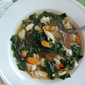 Easy Chicken Soup with Watercress and Chard