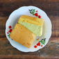 Pandan Chiffon Cake (With Coconut Milk)