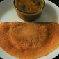 Brown rice and cracked wheat dosa (fermented batter)