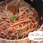 Easy One Pot Spaghetti with Meat Sauce