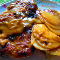Pork casserole with shallots and potatoes