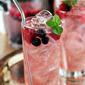 Vodka Spritzer with Raspberries and Blueberries
