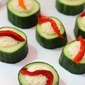 Easy Cucumber Hummus Cups