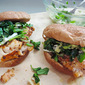 Blackened Grouper Sandwiches with Honey-Lime Watercress Slaw