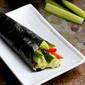 Vegetable Hand Roll Recipe (Temaki) with Avocado Wasabi Yogurt