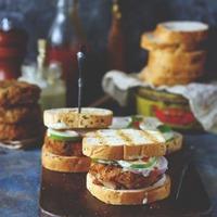Rajma and Dalia Tikki Sandwich