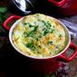 Make-Ahead Baked Eggs with Zucchini & Gruyere Cheese