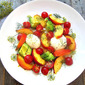 Best Summer Salad w/ Peaches & Mozzarella