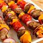 Antipasto Sausage and Vegetable Skewers