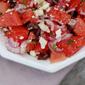 Watermelon, Feta and Black Olive Salad