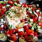 Mediterranean Roasted Potato Nachos Recipe