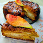 Nectarine, fig and ricotta cake