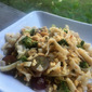 Spicy Peanut Noodle Salad with Broccoli and Grapes