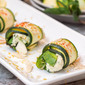 Vegan Zucchini Rolls with Herbed Cashew Ricotta, Mint and Avocado {GF}