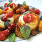 Baked Chicken Parmesan with Roasted Cherry Tomato Sauce