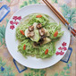 Luffa (Chinese Okra/ Singua) with Fresh Mushrooms 香菇炒丝瓜丝