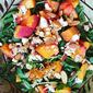 Peach, Arugula and Blue Cheese Salad