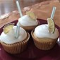 Dark and Stormy Cupcakes with Lime Frosting