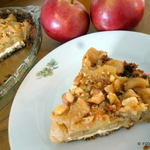 APPLE spice caramelized Goat CHEESE pie dessert