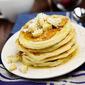 Tropical Banana Coconut Flax Pancakes