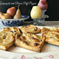 Pear, Gorgonzola and Bacon Puff Pizzas