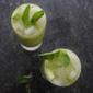 Mint cucumber gin fizz