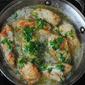 Angel hair pasta with chicken, white wine and garlic