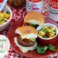 King Hawaiian Beef Sliders W/Pineapple-Mango Salsa