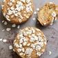 Healthy apple pumpkin breakfast muffins