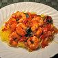 Shrimp Arrabbiata on Spaghetti Squash; the last dog walk