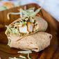 Honey Sesame Chicken Salad Wraps