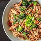 Spicy Egg Noodles with Veggies and Chicken