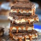 No Bake Snickers Crunch Bars