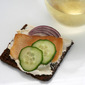 Smoked Trout and Black Garlic Open-faced Sandwiches
