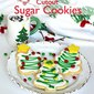 Christmas Tree Cutout Sugar Cookies