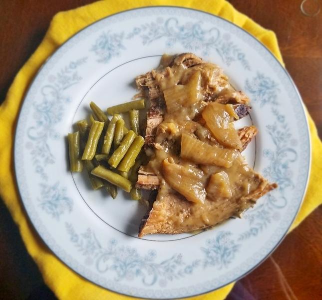 Crock Pot Beef Roast with Garlic and Horseradish