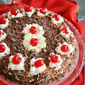 Black forest cake / How to make black forest cake / Black forest cake with egg - Christmas recipes