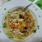 Chicken and Rice-Noodle Soup