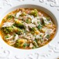 Minestra di broccoli e arzilla (Skate and Romanesco Broccoli Soup)